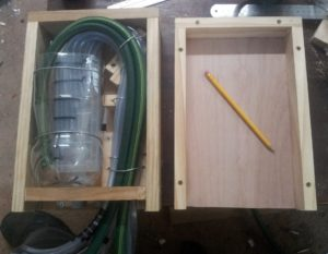 Make a door. This is important, as slime will grow in the bottle if enough light gets in.