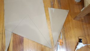 When cutting out more triangles - trace your original to make sure they match.