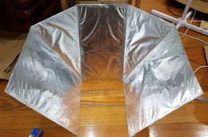 Small solar oven array