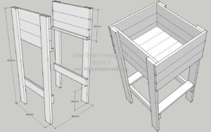 Solar oven frame plans.