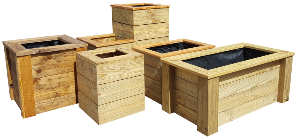 Custom Pine Planter Boxes