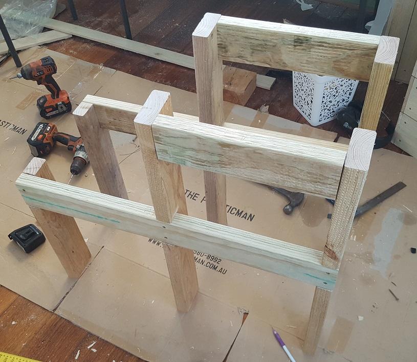 two level planter box step 10