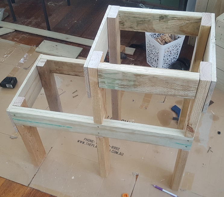 two level planter box step 13
