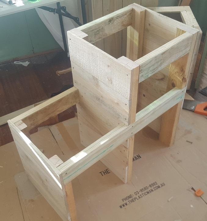 two level planter box step 16