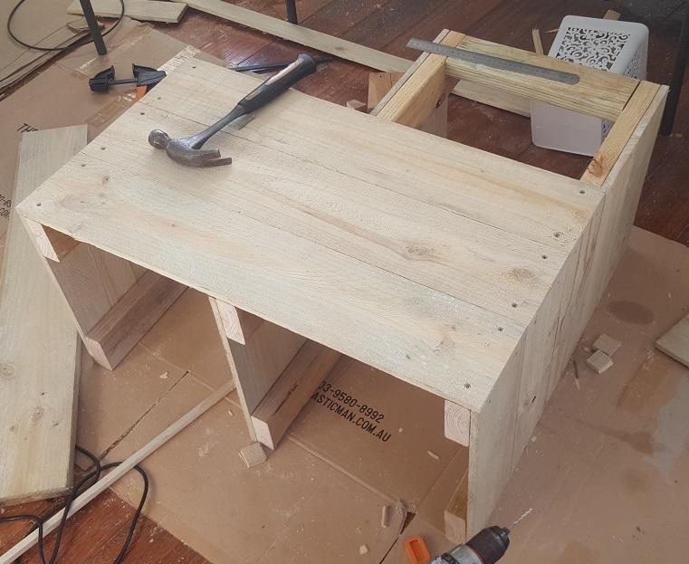 two level planter box step 17