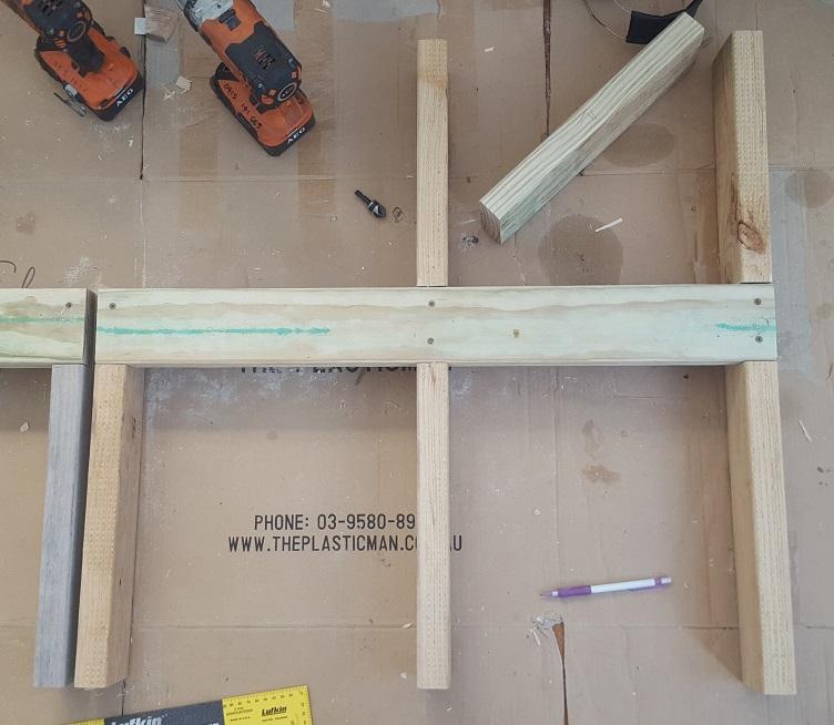 two level planter box step 9