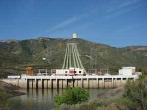 Pumped energy storage facility in Castaic