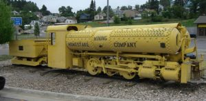 A locomotive powered by compressed air.