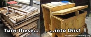 Turn some old junk pallets into a compact fish tank