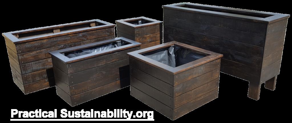 Dark Planter boxes matching set
