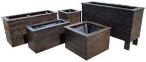 Dark Planter boxes matching set