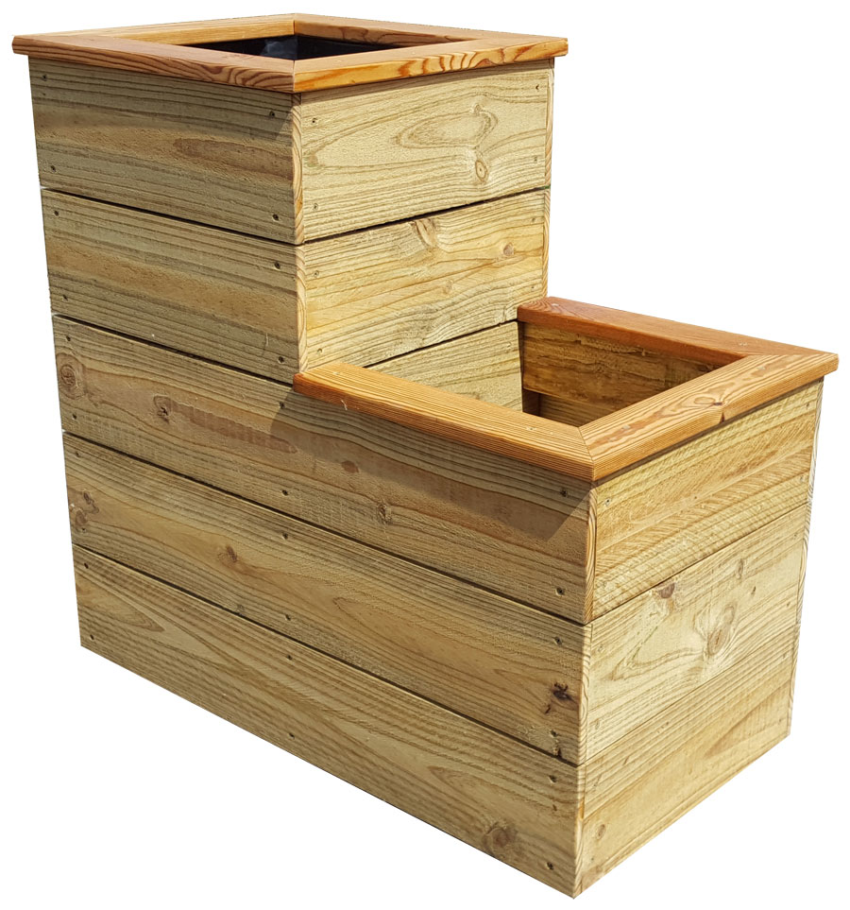 D I Y Two Level Planter Box Tutorial With Free Plans Practical