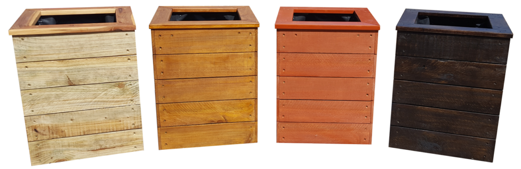 planter box stain examples